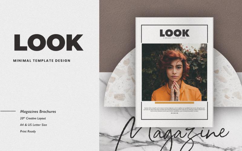 Шаблон журнала Look Lookbook