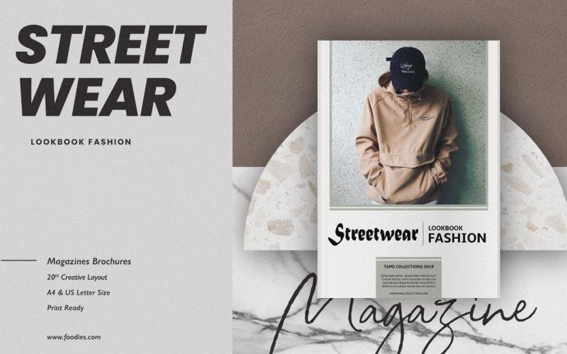 Шаблон журнала Streetwear