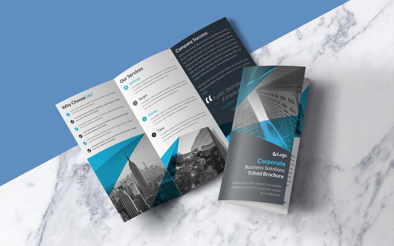 Blue Trifold Brochure Design - Corporate Identity Template