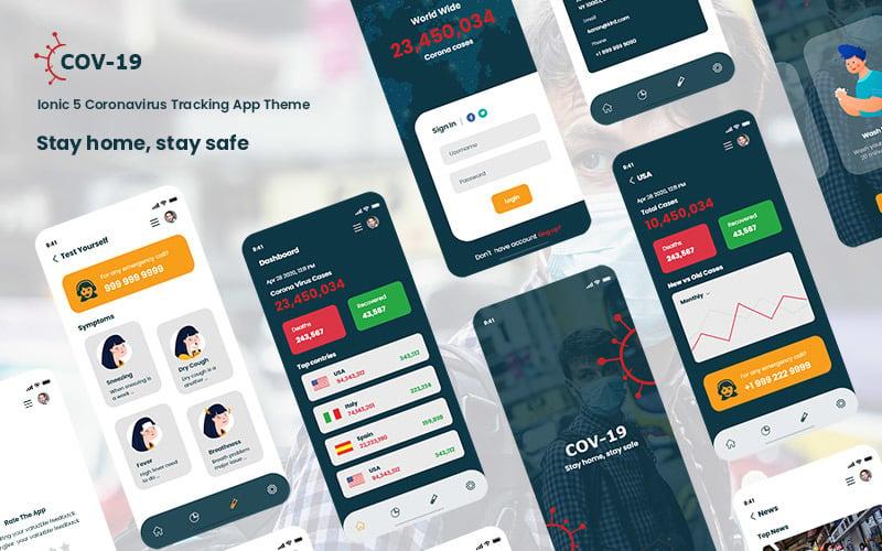 cov-19 Ionic 5 coronavirus tracking app theme App Template