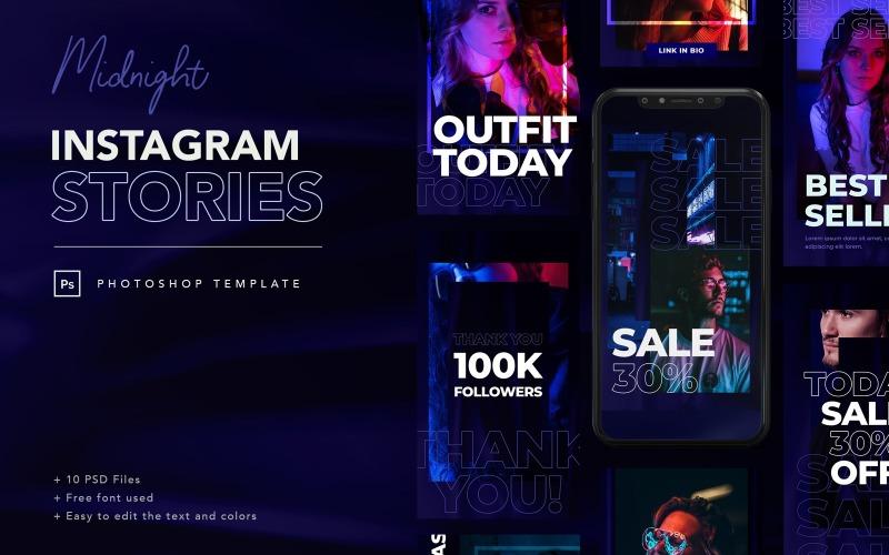 Шаблон для социальных сетей Midnight Instagram Stories