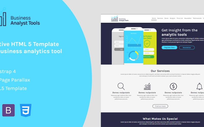 Business Analytic - Адаптивный HTML-шаблон целевой страницы