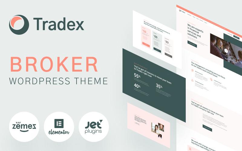 Tradex - тема WordPress для брокеров Forex
