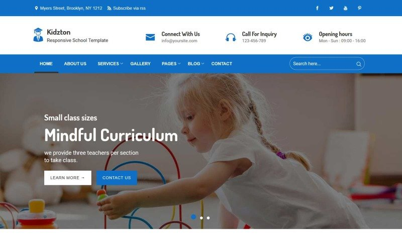 Kidzton - Responsive School College HTML5 Template