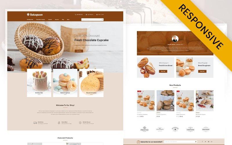 Bakequeen - Bakkerijwinkel PrestaShop-thema
