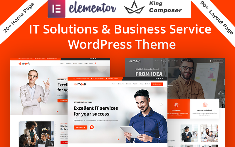 Tecnología y servicios de soluciones de TI Tema de WordPress