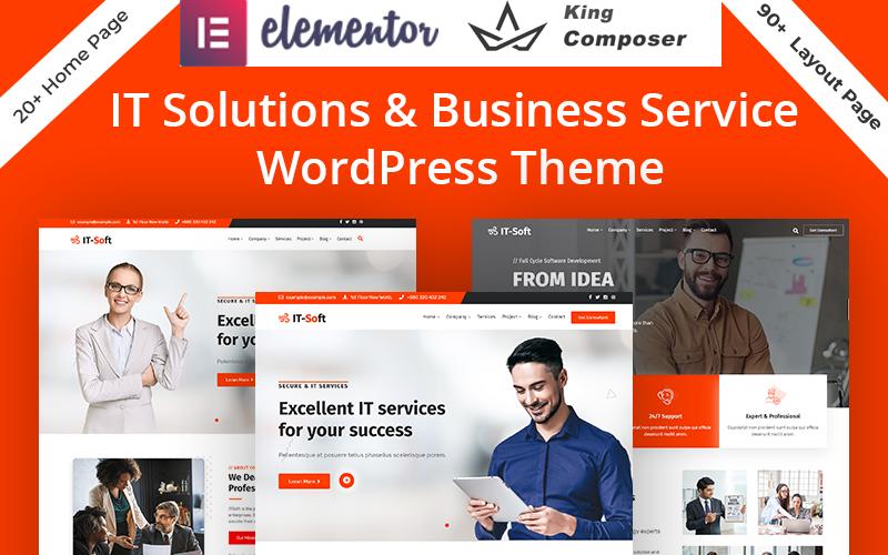 Thème WordPress pour les services de solutions technologiques et informatiques