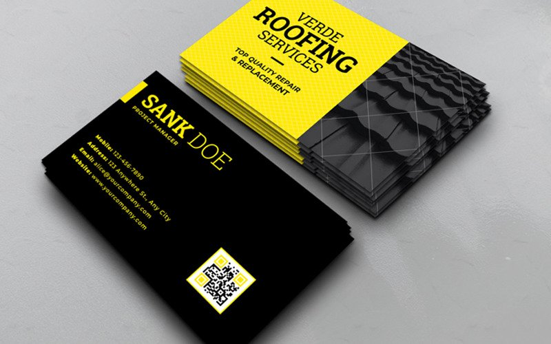 Roofing Service Business Card - Corporate Identity Template