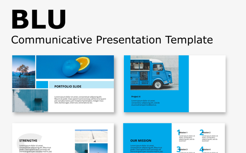 Blu - Komunikatywny szablon prezentacji PowerPoint