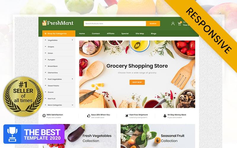 FreshMart - Livsmedelsbutik OpenCart-mall