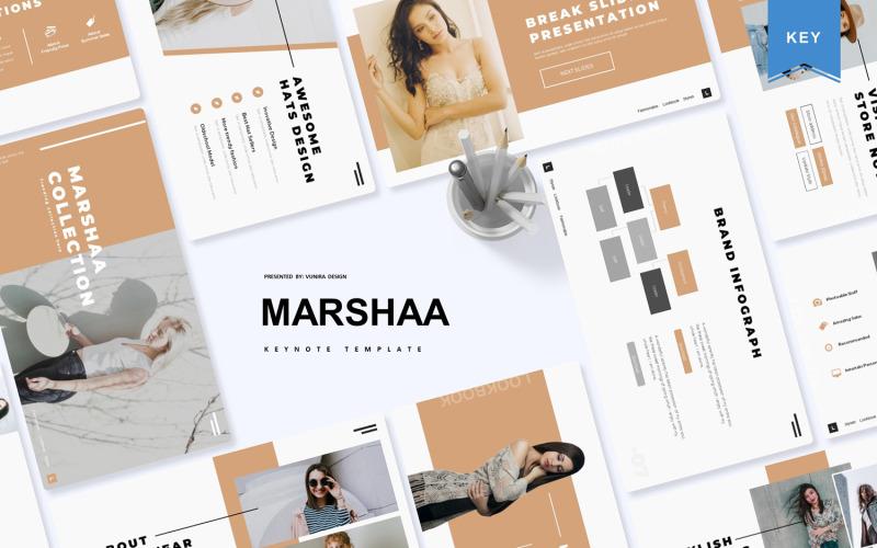 Marshaa - modelo de apresentação