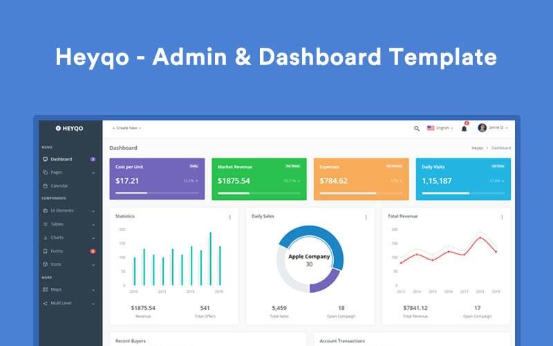 Heyqo - Dashboard Admin Template