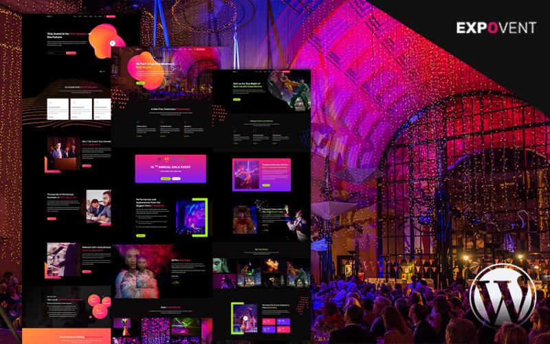 Бронирование мероприятий и продажа билетов на гала-концерты | WordPress тема Expovent