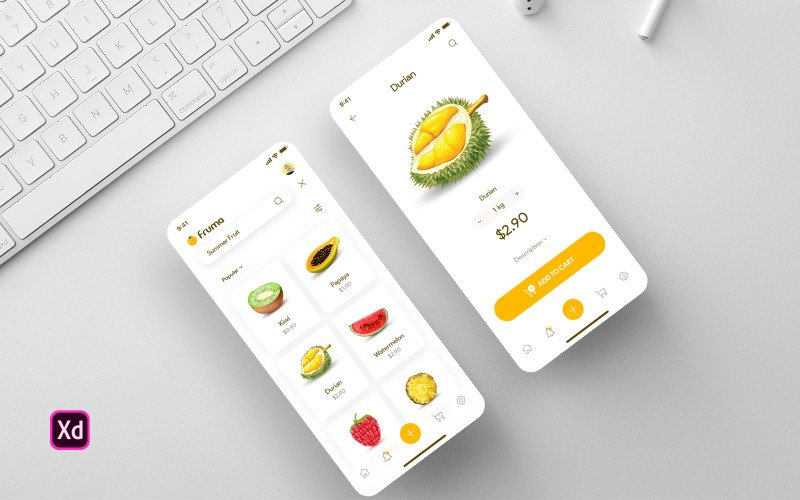 Fruma - Fruit Ecommerce App UI Elements