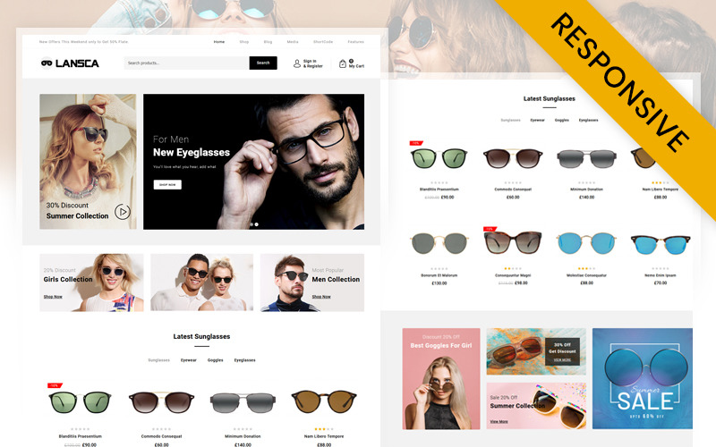 Lansca - Multipurpose WooCommerce Theme
