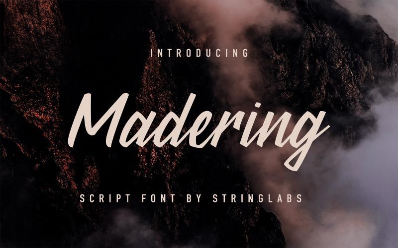 Madering - стильный курсивный шрифт