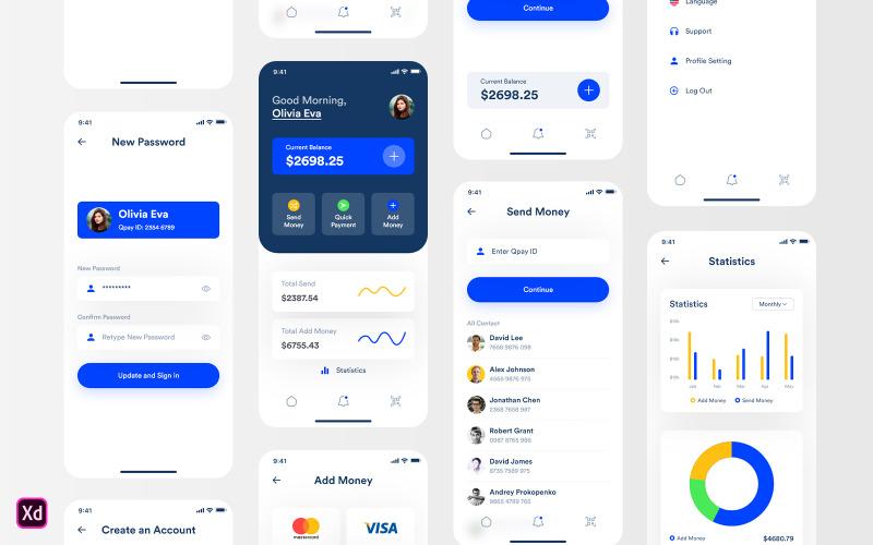 Qpay - Quick Payment App UI Elements