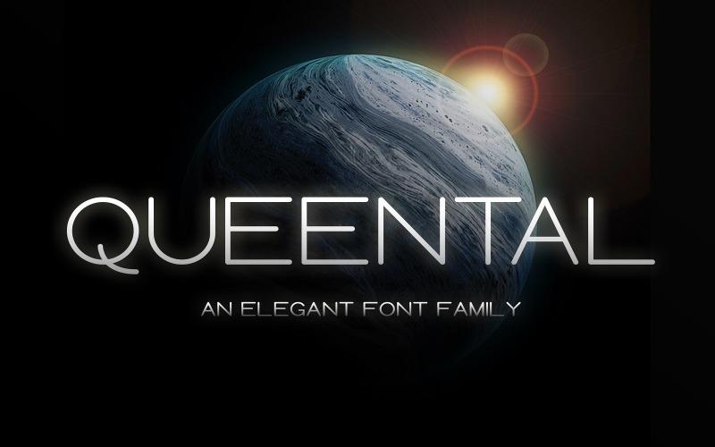 Queental - шрифт Elegant Sans Family