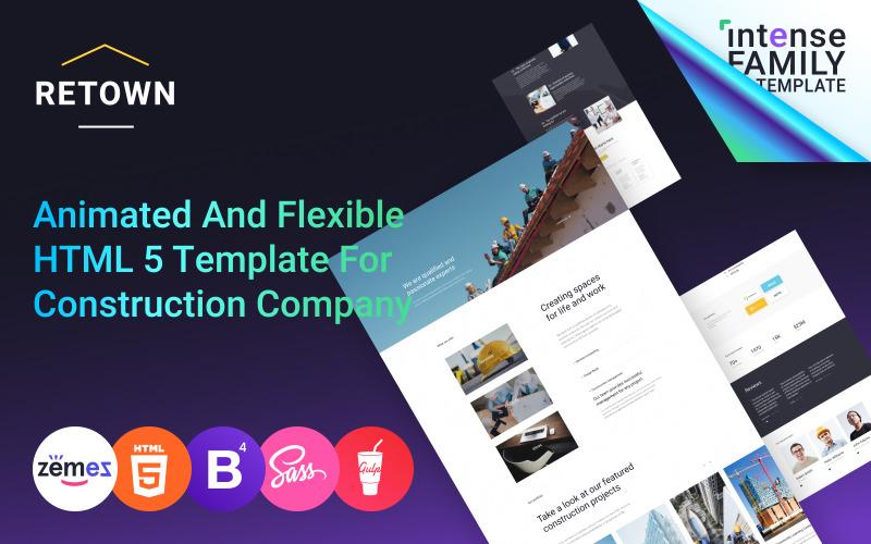 ReTown - Construction Company Responsive Website Template