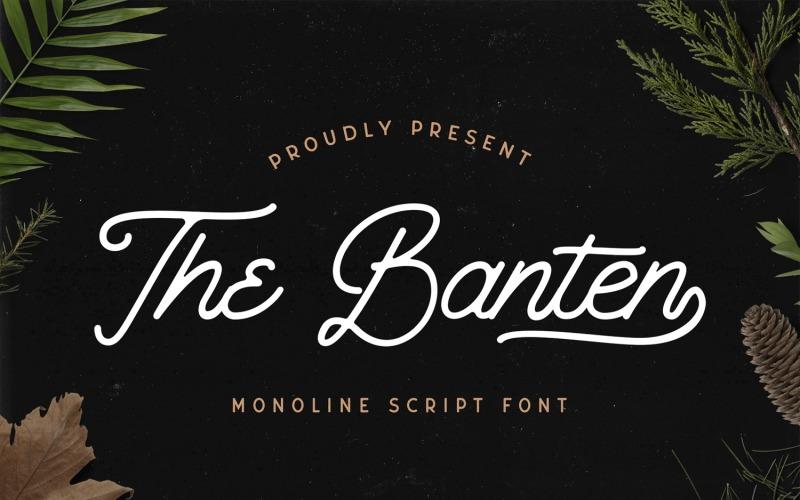 The Banten - монолинейный курсивный шрифт