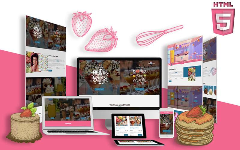 Ice Cream & Frozen Yogurt HTML5 | Summercream Website Template