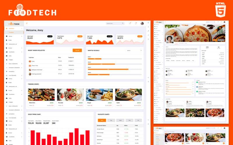 Restaurants Operation | Foodtech Admin Template