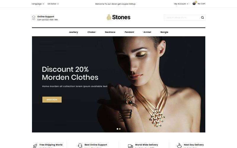 Stones - Jewelry Online Store PrestaShop Theme