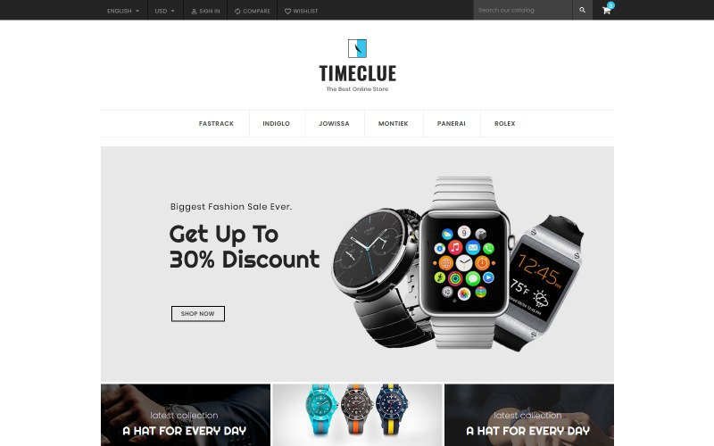 Timeclue - Watch and Jewelry Store PrestaShop Theme