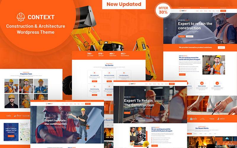 Contexto - Tema WordPress responsivo para construção e arquitetura