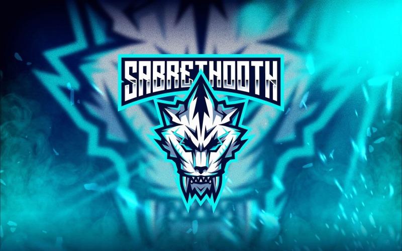 Шаблон логотипа Sabrethooth Esport
