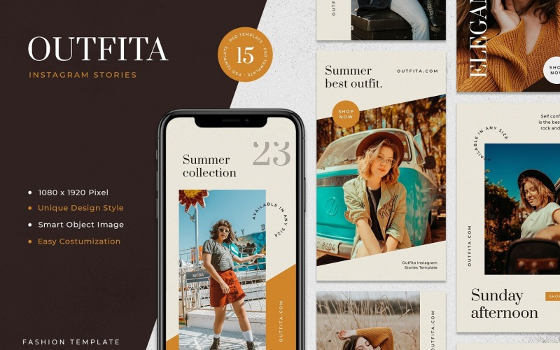 Outfita - Fashion Instagram Stories Template for Social Media