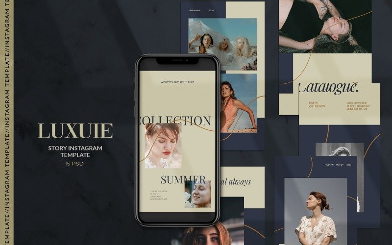 Luxuie - Fashion Instagram Stories Template for Social Media