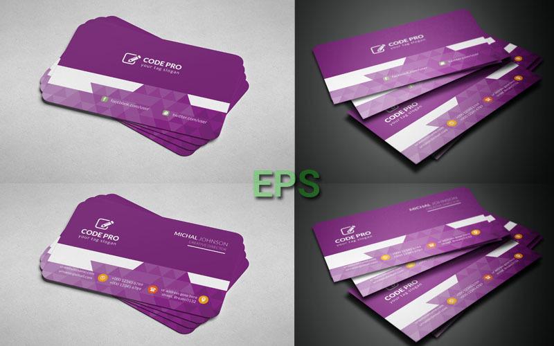 Orange Color Business Card - Corporate Identity Template