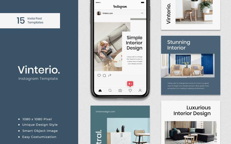 Vinterio - Interior Instagram Post Template for Social Media