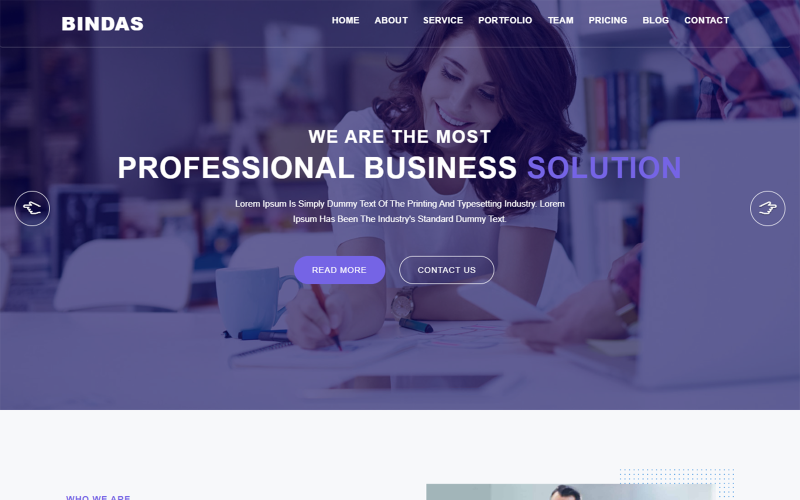 Bindas Consulting & Business Landing Page Template