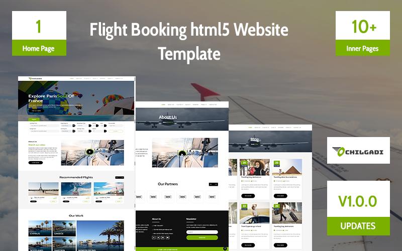 Flight Booking html5 Website Template
