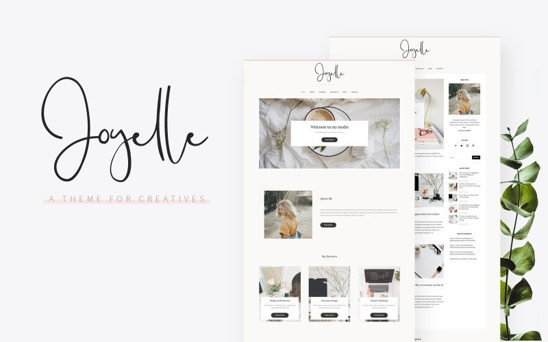 Joyelle - Creative Artist WordPress Theme