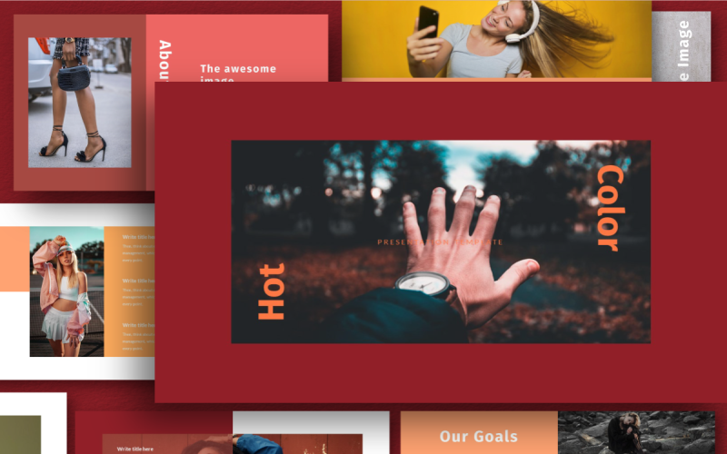 Hot Color - Keynote template