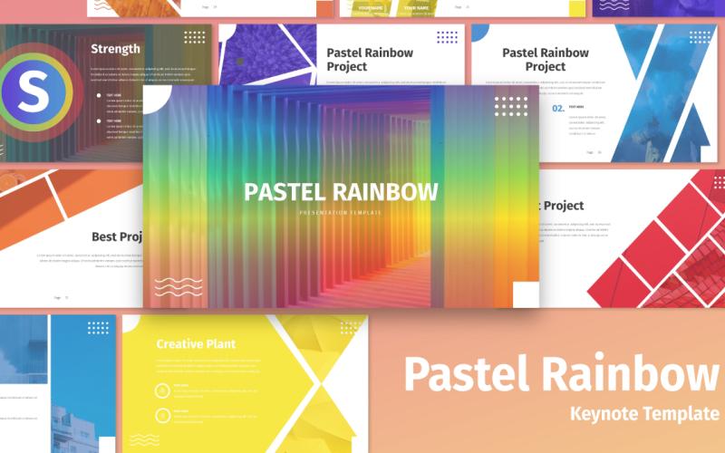 Pastel Rainbow - Multipurpose - Keynote template