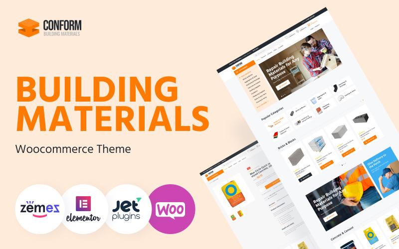 Conform - Modèles de sites Web de matériaux de construction Thème WooCommerce