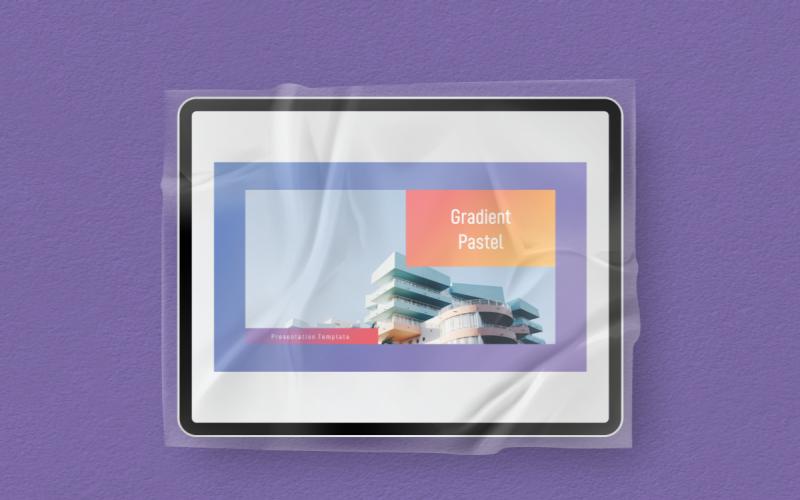 Modèle PowerPoint de dégradé pastel