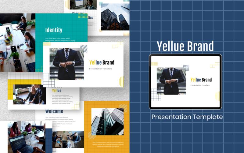 Modèle PowerPoint de marque Yellue