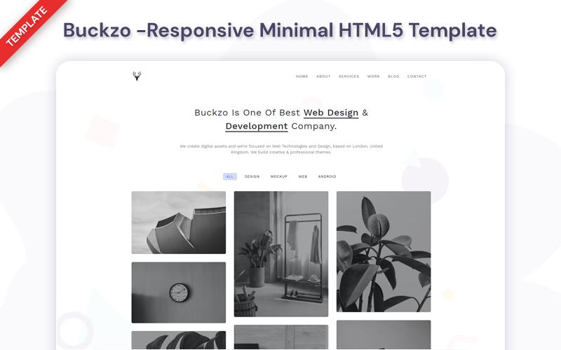 Buckzo - Modèle de site Web minimal réactif