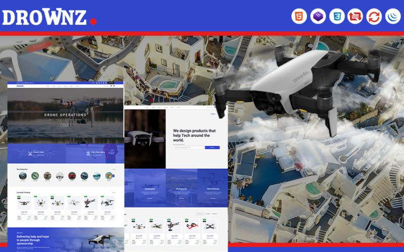 Drownz   HTML5 шаблон веб-сайта магазина дронов и Ariel Photography