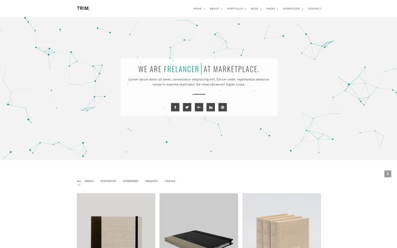 Modèle de site Web de portefeuille minimal Trim