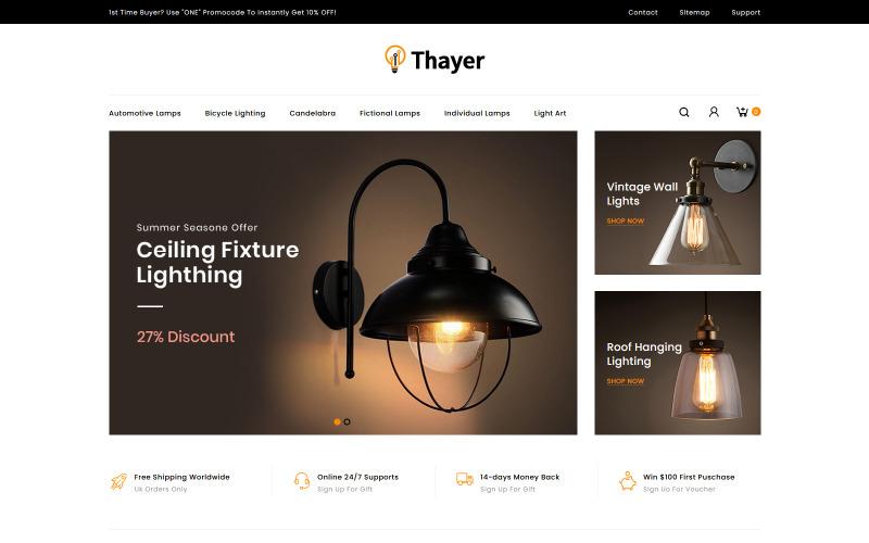 Thayer - Téma PrestaShop pro osvětlení a domácí dekorace
