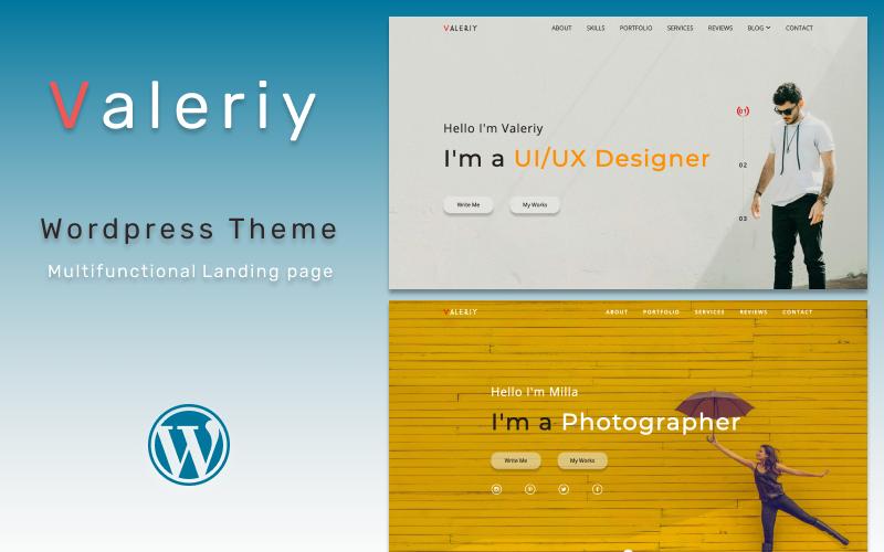 Valeriy | Multifunctional Personal Landing page WordPress Theme