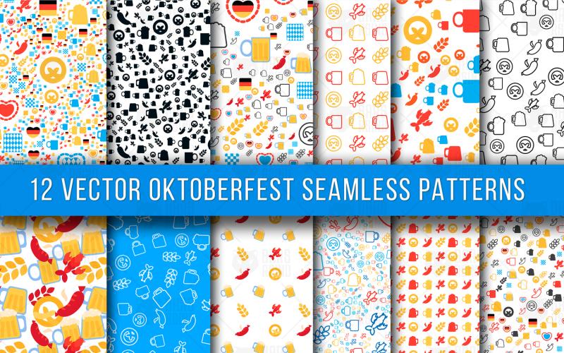 Patrón transparente de Oktoberfest