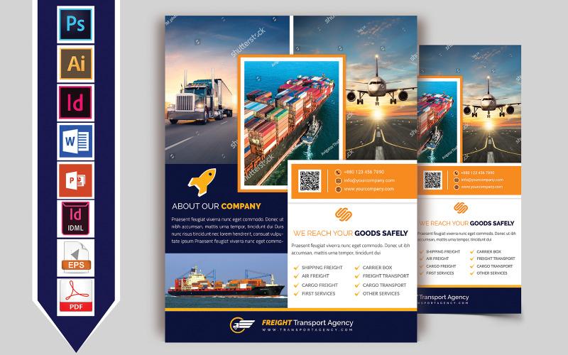 Folleto de la agencia de transporte de mercancías Vol-02 - Plantilla de identidad corporativa