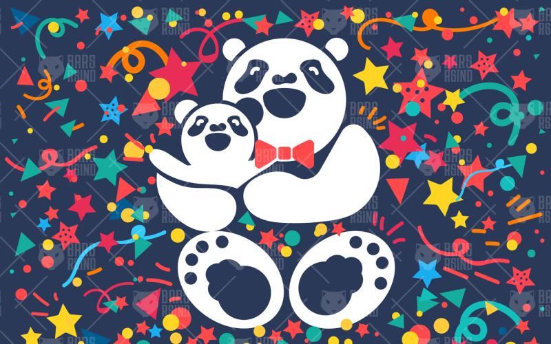 Happy Bear Father - Plantilla de identidad corporativa